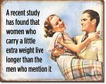 Women Live Longer Tin Sign