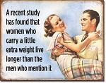 Women Live Longer Tin Sign