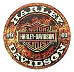 Harley Davidson Round Tin Sign
