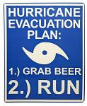 Hurricane Evacuation Tin Sign