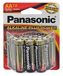 "12-pc. Panasonic Alkaline ""AA"" Batteries"