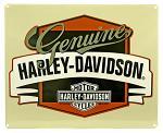 Harley Davidson Genuine with Banner Tin Sign