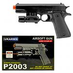 P2003 Spring Powered Airsoft Handgun - Black