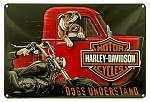 Harley Davidson Dogs Understand Tin Sign