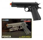 P2003A Spring Powered Airsoft Handgun - Black