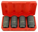 4 - pc. 1/2 DR. Deep Spindle Axle Nut Socket Set