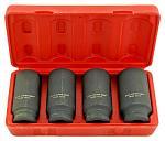 4 - pc. 1/2 DR. Deep Spindle Axle Nut Socket Set