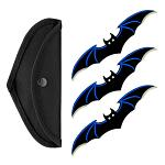 3 - pc. Bat Throwing Knife Set - Blue