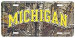 Michigan Real Tree Camo License Plate