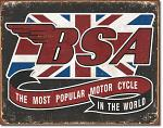 BSA Most Popular Tin Sign