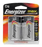 2-pc. Energizer Max D-Size Battery Pack