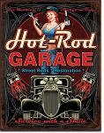 Hot Rod Garage Tin Sign