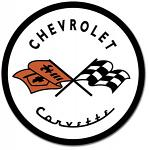 Corvette '53 Logo Round Tin Sign