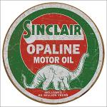 Sinclair Opaline Round Tin Sign