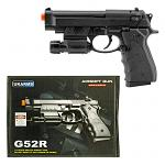 G52R Spring Powered Airsoft Handgun - Black