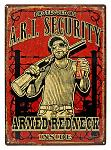 A.R.I. Security Tin Sign