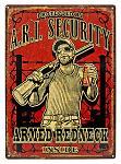 A.R.I. Security Tin Sign