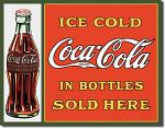 Coke Sold Here Tin Sign
