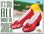 Still About the Shoes Tin Sign